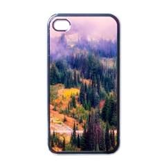 Landscape Fog Mist Haze Forest Apple Iphone 4 Case (black)