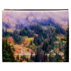 Landscape Fog Mist Haze Forest Cosmetic Bag (xxxl)