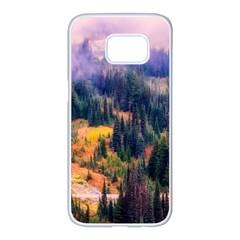 Landscape Fog Mist Haze Forest Samsung Galaxy S7 Edge White Seamless Case