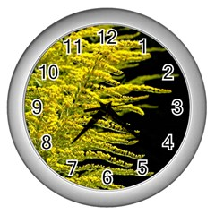 Golden Rod Gold Diamond Wall Clocks (silver)