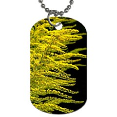 Golden Rod Gold Diamond Dog Tag (two Sides)