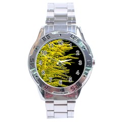 Golden Rod Gold Diamond Stainless Steel Analogue Watch