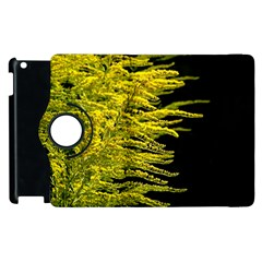 Golden Rod Gold Diamond Apple Ipad 2 Flip 360 Case