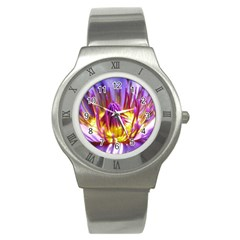 Flower Blossom Bloom Nature Stainless Steel Watch