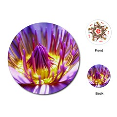Flower Blossom Bloom Nature Playing Cards (round)