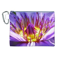 Flower Blossom Bloom Nature Canvas Cosmetic Bag (xxl)