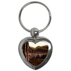 Viaduct Structure Landmark Historic Key Chains (heart)