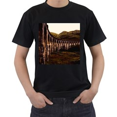 Viaduct Structure Landmark Historic Men s T Shirt (black) (two Sided)
