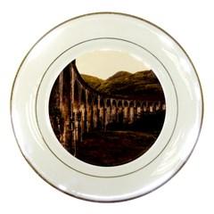 Viaduct Structure Landmark Historic Porcelain Plates