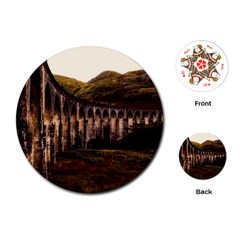 Viaduct Structure Landmark Historic Playing Cards (round)