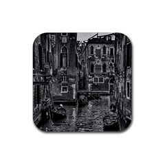 Venice Italy Gondola Boat Canal Rubber Square Coaster (4 Pack)
