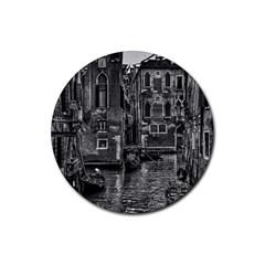 Venice Italy Gondola Boat Canal Rubber Coaster (round)