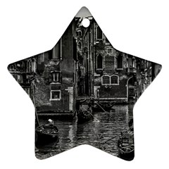 Venice Italy Gondola Boat Canal Star Ornament (two Sides)