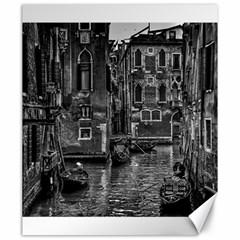 Venice Italy Gondola Boat Canal Canvas 20  X 24