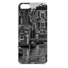 Venice Italy Gondola Boat Canal Apple Iphone 5 Seamless Case (white)