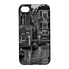 Venice Italy Gondola Boat Canal Apple Iphone 4/4s Hardshell Case With Stand