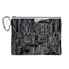Venice Italy Gondola Boat Canal Canvas Cosmetic Bag (l)