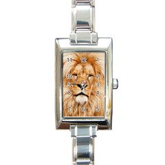 Africa African Animal Cat Close Up Rectangle Italian Charm Watch
