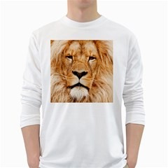 Africa African Animal Cat Close Up White Long Sleeve T Shirts