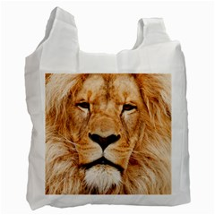 Africa African Animal Cat Close Up Recycle Bag (one Side)