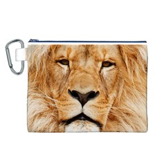 Africa African Animal Cat Close Up Canvas Cosmetic Bag (l)
