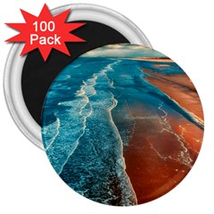 Sea Ocean Coastline Coast Sky 3  Magnets (100 Pack)