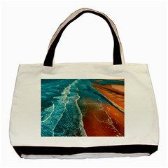 Sea Ocean Coastline Coast Sky Basic Tote Bag (two Sides)