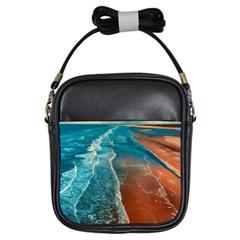 Sea Ocean Coastline Coast Sky Girls Sling Bags
