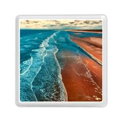 Sea Ocean Coastline Coast Sky Memory Card Reader (square)