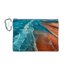 Sea Ocean Coastline Coast Sky Canvas Cosmetic Bag (m)