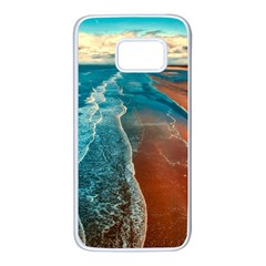 Sea Ocean Coastline Coast Sky Samsung Galaxy S7 White Seamless Case