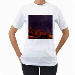 Italy Cabin Stars Milky Way Night Women s T Shirt (white) (two Sided)