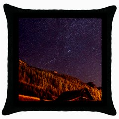 Italy Cabin Stars Milky Way Night Throw Pillow Case (black)