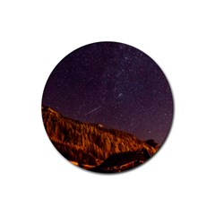 Italy Cabin Stars Milky Way Night Rubber Round Coaster (4 Pack)
