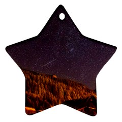 Italy Cabin Stars Milky Way Night Star Ornament (two Sides)