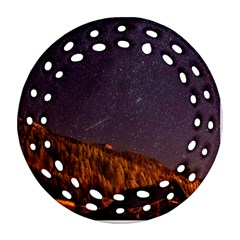 Italy Cabin Stars Milky Way Night Round Filigree Ornament (two Sides)