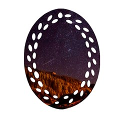 Italy Cabin Stars Milky Way Night Ornament (oval Filigree)