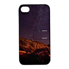Italy Cabin Stars Milky Way Night Apple Iphone 4/4s Hardshell Case With Stand