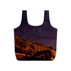 Italy Cabin Stars Milky Way Night Full Print Recycle Bags (s)