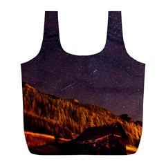 Italy Cabin Stars Milky Way Night Full Print Recycle Bags (l)