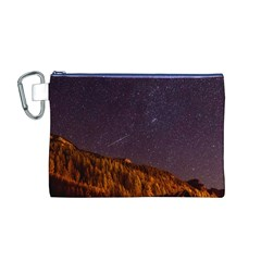 Italy Cabin Stars Milky Way Night Canvas Cosmetic Bag (m)