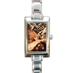 Iceland Mountains Snow Ravine Rectangle Italian Charm Watch