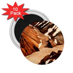Iceland Mountains Snow Ravine 2 25  Magnets (10 Pack)