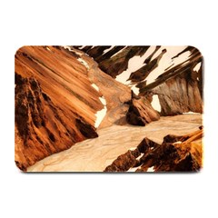Iceland Mountains Snow Ravine Plate Mats