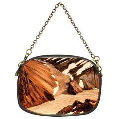 Iceland Mountains Snow Ravine Chain Purses (one Side)