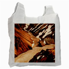 Iceland Mountains Snow Ravine Recycle Bag (one Side)