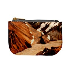 Iceland Mountains Snow Ravine Mini Coin Purses