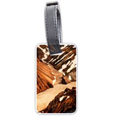 Iceland Mountains Snow Ravine Luggage Tags (two Sides)