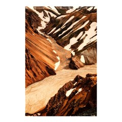 Iceland Mountains Snow Ravine Shower Curtain 48  X 72  (small)