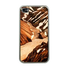 Iceland Mountains Snow Ravine Apple Iphone 4 Case (clear)
